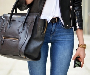 clothes, fashion, and leather image