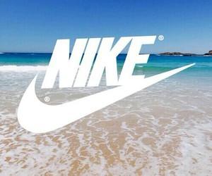 nike, beach, and Logo image