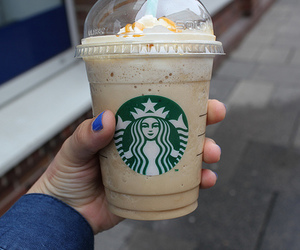 starbucks, photography, and yum image