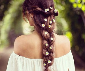 braid, style, and brunette image