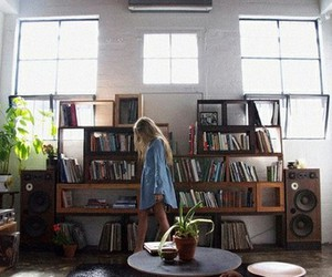 girl, book, and room image