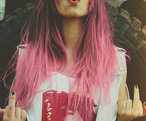 color hair, girly, and pink hair image