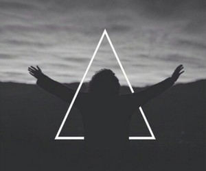 triangle, hipster, and sky image