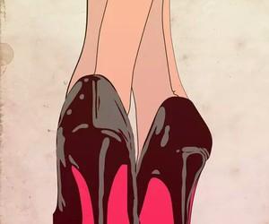 heels, black, and art image