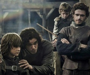 game of thrones, robb stark, and jon snow image