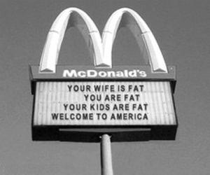 fat, McDonalds, and america image