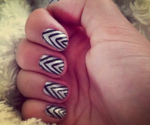 art, nails, and stripes image