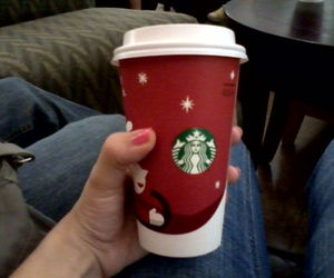 christmas, starbucks, and redcups image