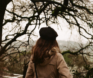 beret, photography, and brunette image