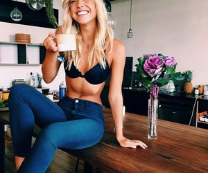 coffe, morning, and girl image