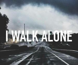 alone, walk, and sad image