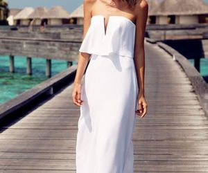 beach, maxi, and clothes image