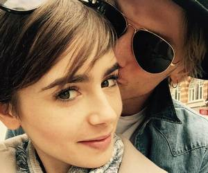 lily collins, Jamie Campbell Bower, and love image