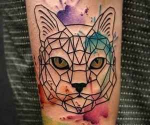 cat, cat tattoo, and Tattoos image