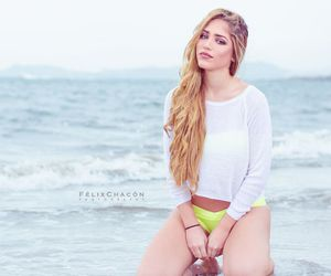 beach, blonde, and blondie image