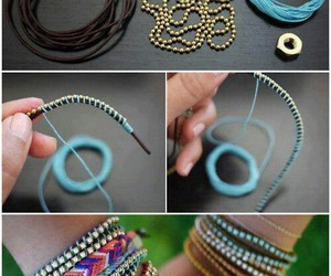 bracelet, diy, and tutorial image