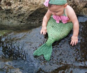 baby and mermaid image