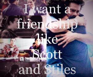 teen wolf, stiles, and friendship image
