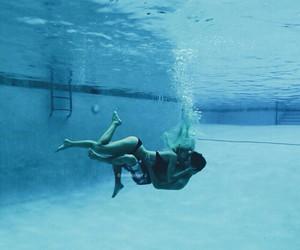 blue, couple, and hug image
