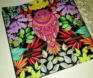 colorful, coloring, and leaves image