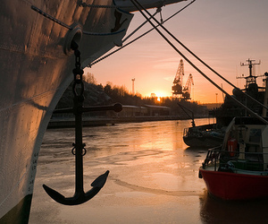 anchor, photography, and boat image