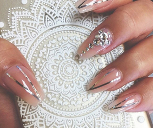 almond nails, beauty, and pretty image