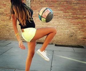 girl, football, and soccer image