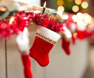 christmas, stockings, and winter image
