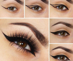 eye, shadow, and style image
