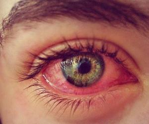 eye, eyes, and green image