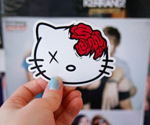 hello kitty, drop dead, and kitty image