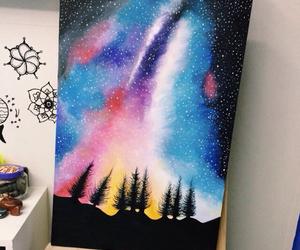 drawing, art, and galaxy image