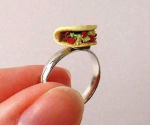 tacos, ring, and love image