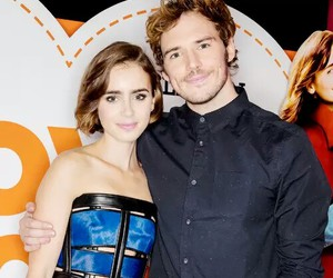 lily collins, movie, and sam claflin image