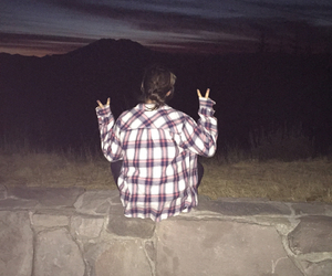 cool kids, flannel, and flash image
