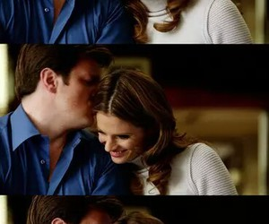 caskett, castle, and stana katic image