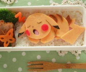 food, pokemon, and pikachu image