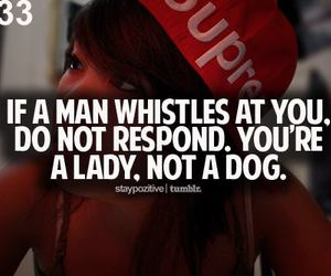 quote, lady, and whistle image
