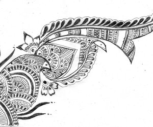 draw, tribal, and pretty cool image