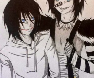 creepypasta, laughing jack, and jeff the killer image