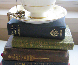book, books, and clock image