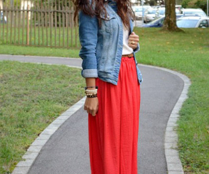 skirt and maxi image