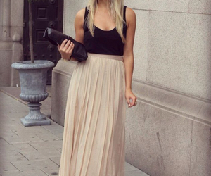 girl, black, and maxi image