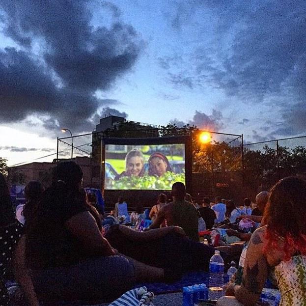 Clueless, fun, and outdoor cinema image