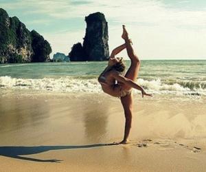beach, gymnastics, and summer image