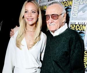 Jennifer Lawrence and stan lee image