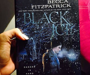book, becca fitzpatrick, and black ice image