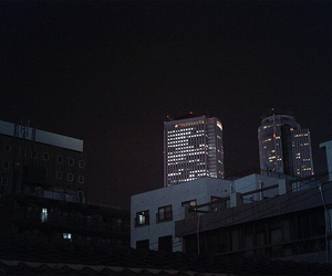 city, night, and building image