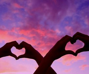 love, heart, and sky image