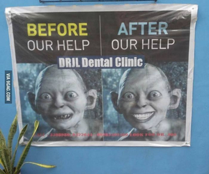 funny, dentist, and LOTR image